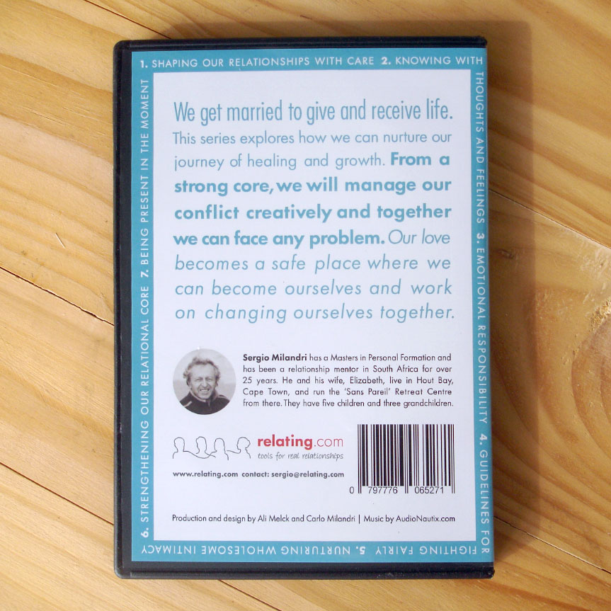 Marriage Insights CD Series - Back Cover